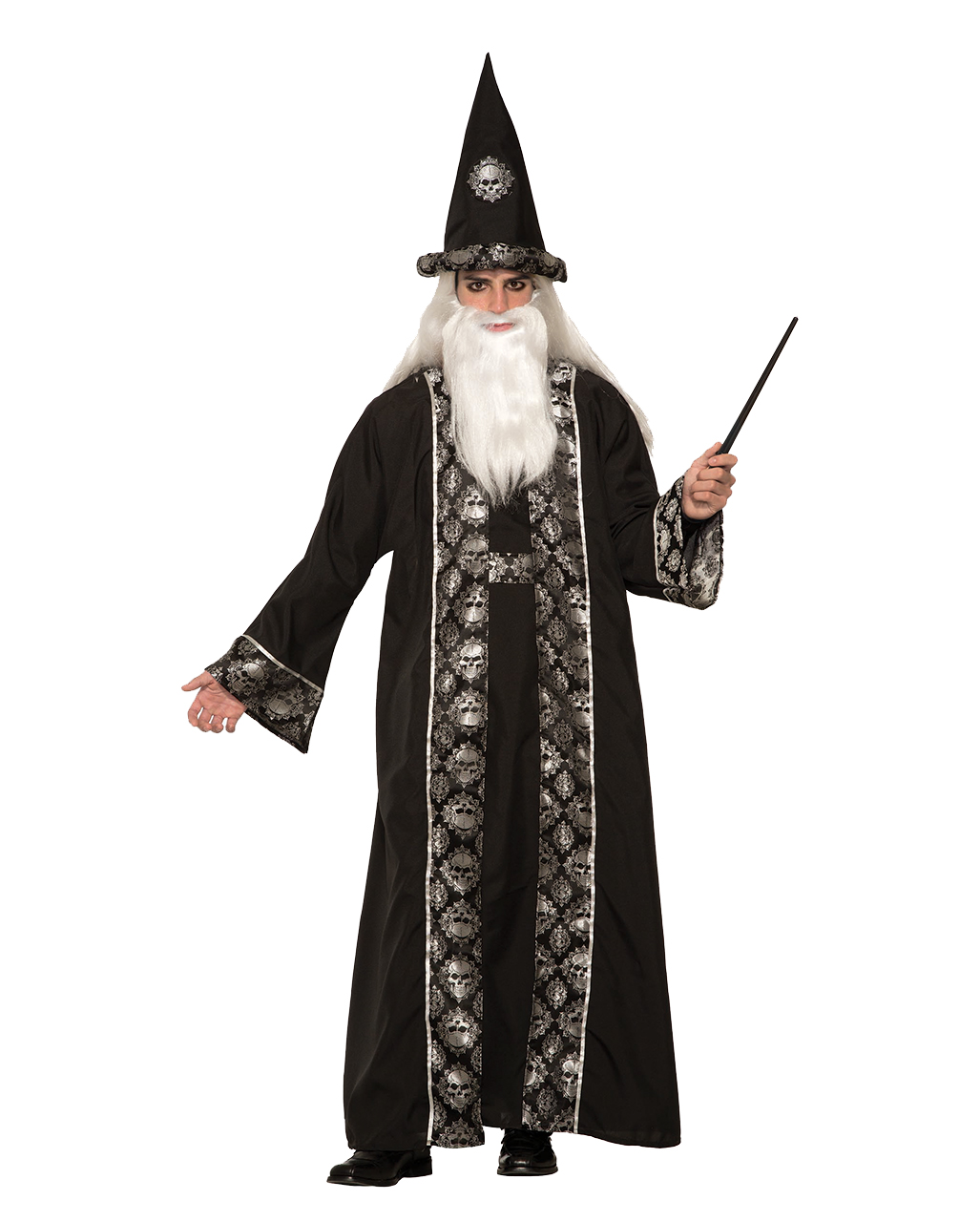 Adult Modern Day Wizard Costume Mens Halloween Warlock Fancy Dress Outfit