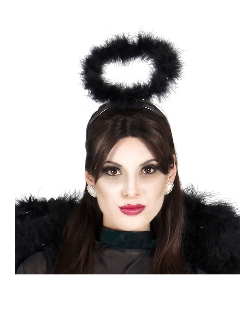 Halloween Schminktipps Schwarzer Engel.Schwarze Engel Heiligenschein Fur Halloween Fasching Horror Shop Com