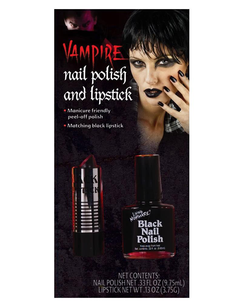 Wild Black Lipstick and Nail Polish