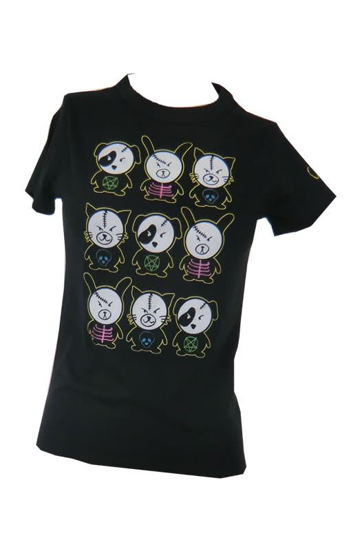 scary animal black m l black t shirt with print punk. Black Bedroom Furniture Sets. Home Design Ideas