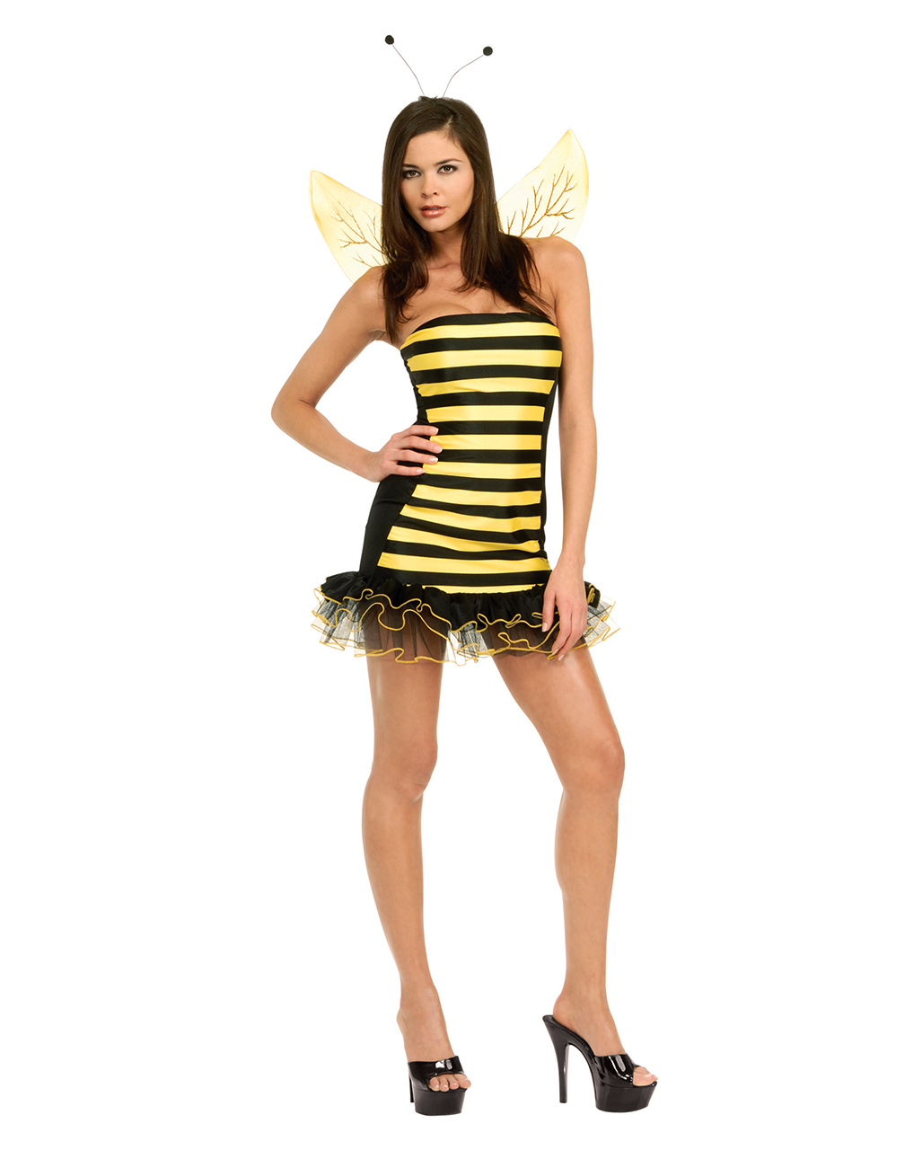 Sexy Biene Kostüm mit Flügel für Damen | Horror-Shop.com