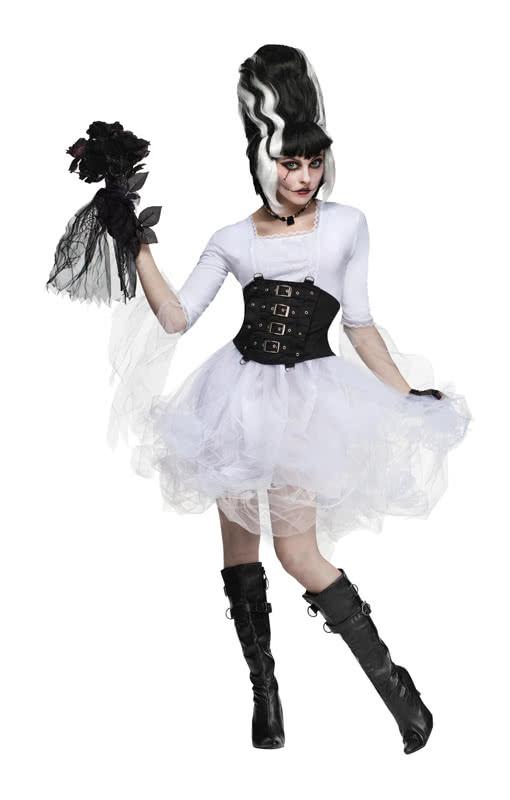 sexy monster braut kost m sexy hochzeitskleid ganz in wei horror. Black Bedroom Furniture Sets. Home Design Ideas