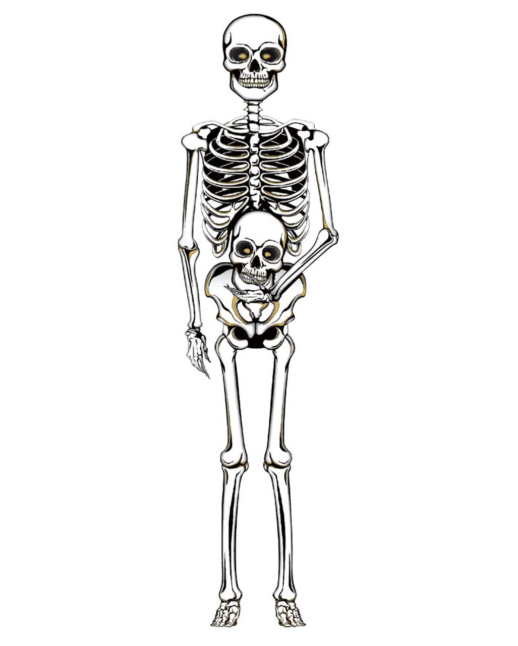 Skelett Wand Deko Aus Pappe 150 Cm Halloween Deko Horror