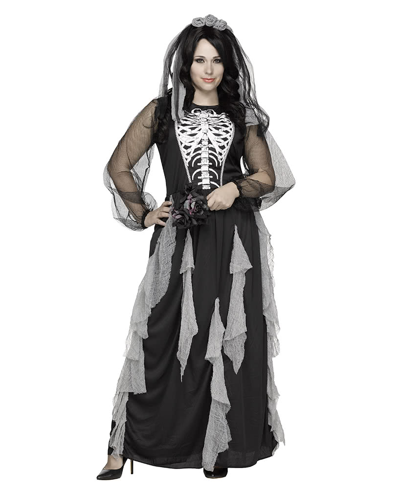 Skeleton Bride Costume Plus Size Xl Oversized Halloween Costumes Horror Shop Com