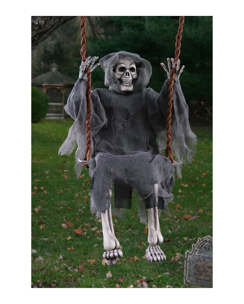 Skeleton Ghost on the swing Halloween Decoration | horror ...