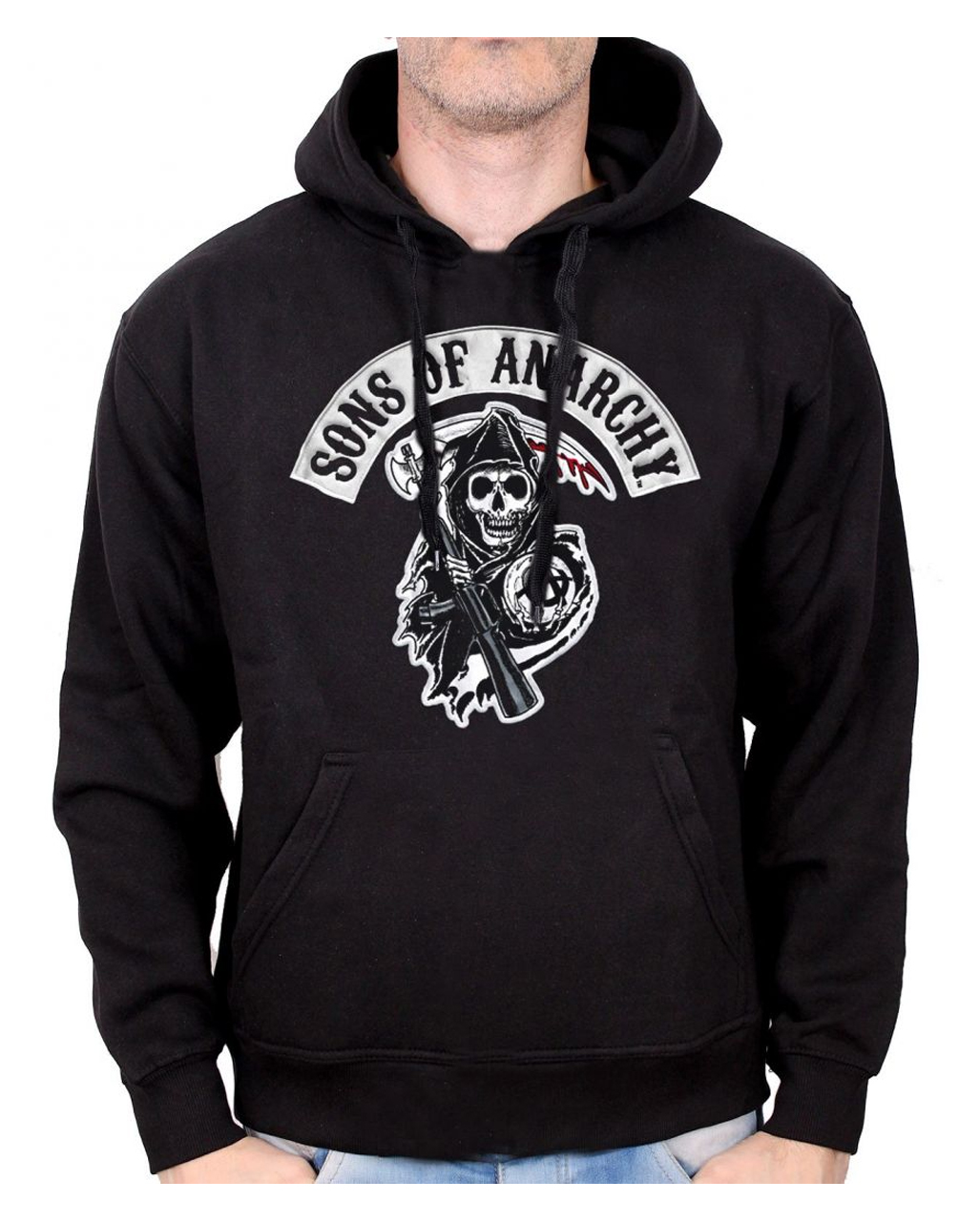 sons of anarchy death reaper hoodie as a fan article. Black Bedroom Furniture Sets. Home Design Ideas