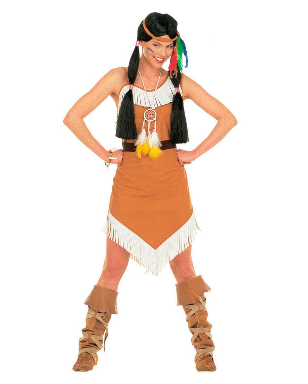 Indianerin Squaw Kostüm Gr L  Indianer Western Squawkostüm Gr L