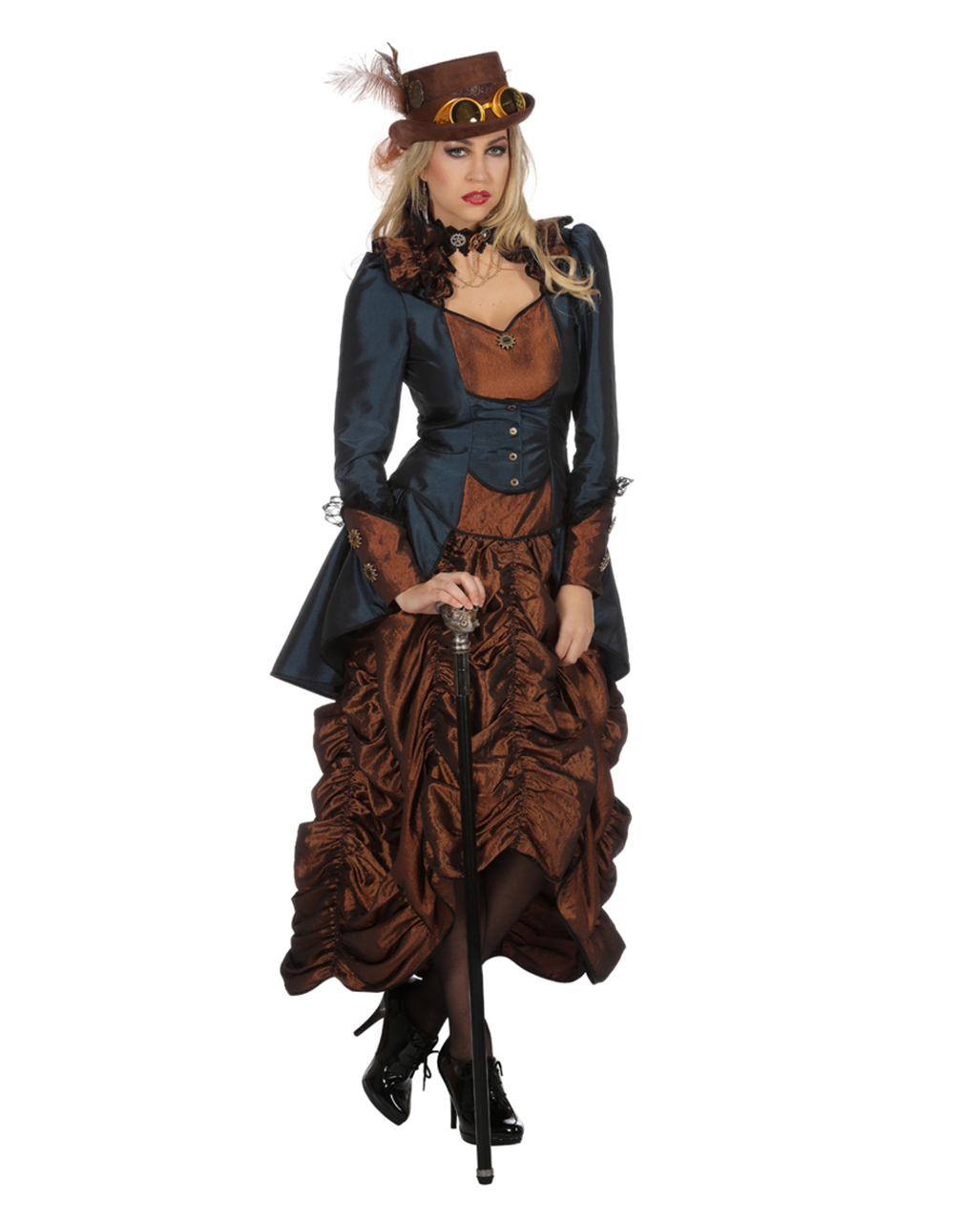 Steampunk Ladies Costume Premium Buy HERE | horror-shop.com