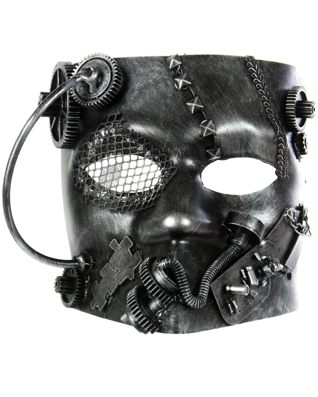 steampunk bauta maske silber f r halloween horror. Black Bedroom Furniture Sets. Home Design Ideas