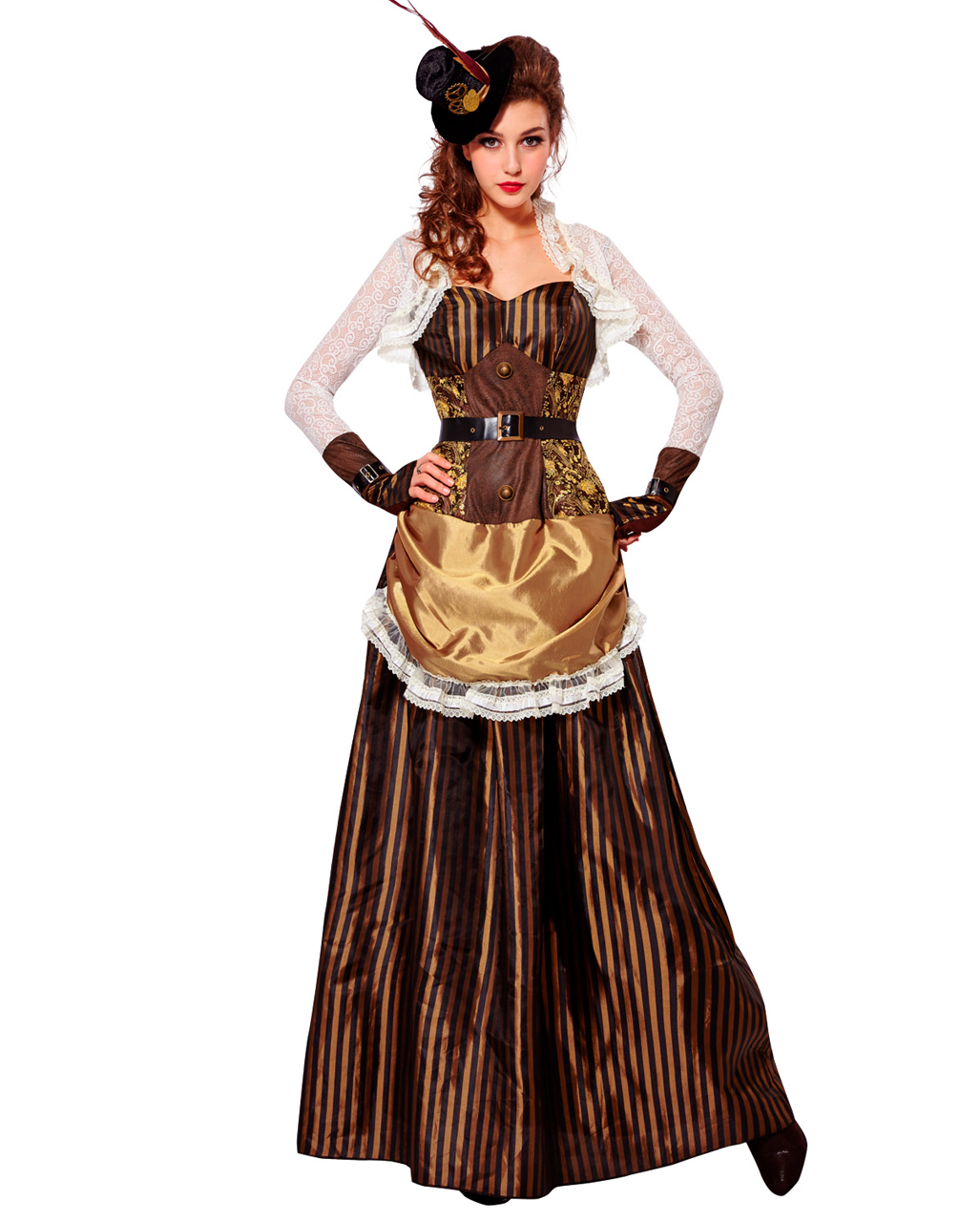 Steampunk Lady Costume for carnival | horror-shop.com  Steampunk Lady ...