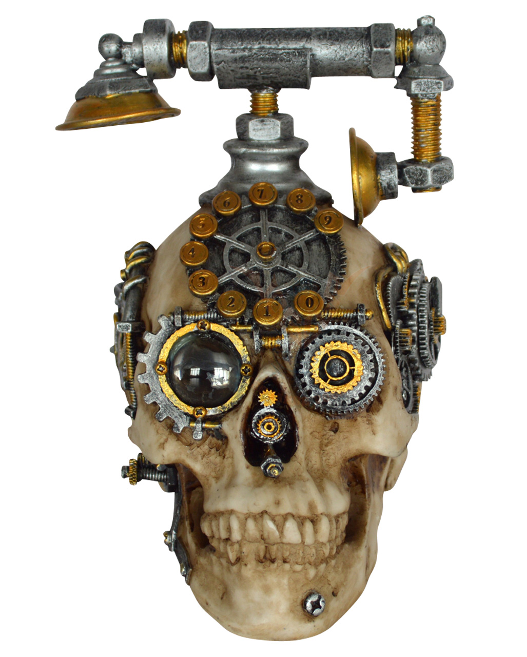 Steampunk Skull With Phone Steampunk Decoration Horror