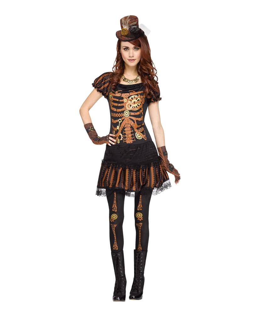 Steampunk Skeleton Woman Costume Skeleton Costume In Steampunk Look Horror Shop Com