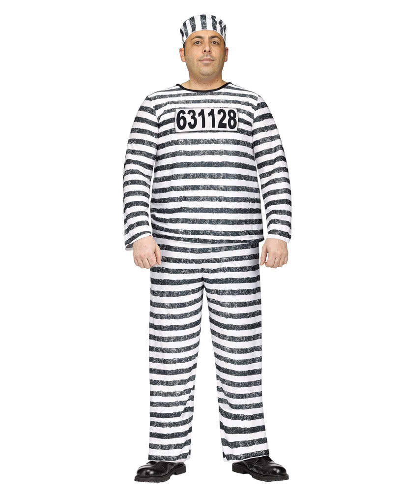 convict costume jailbird xl for halloween horror. Black Bedroom Furniture Sets. Home Design Ideas