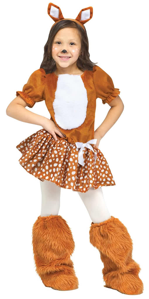 sweet fawn toddlers costume as an animal costume for carnival horror. Black Bedroom Furniture Sets. Home Design Ideas