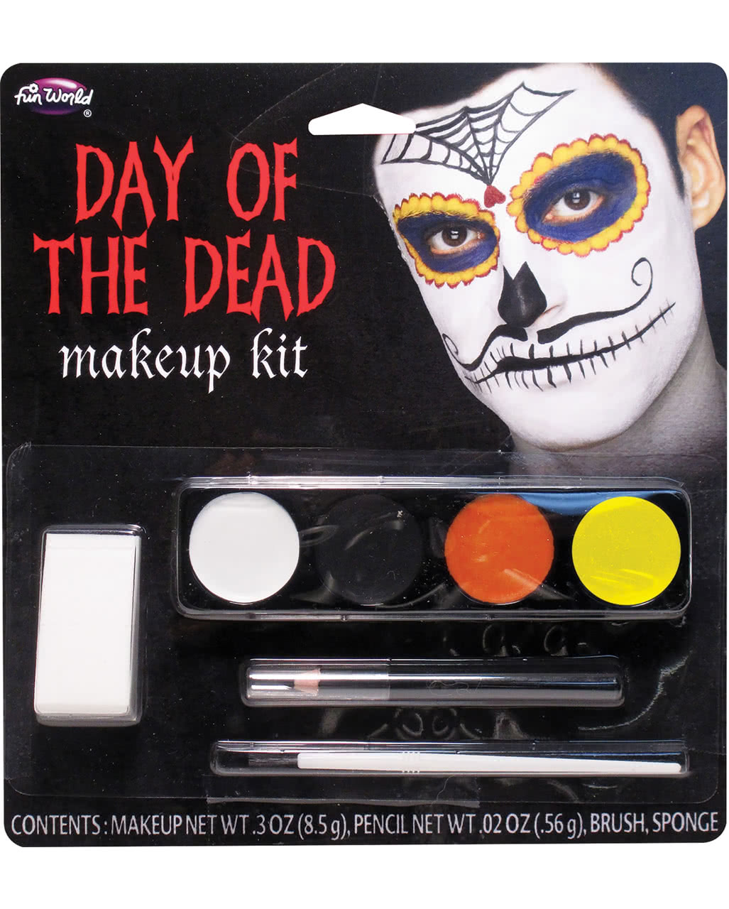 Day Of The Dead Mustache Man Makeup For