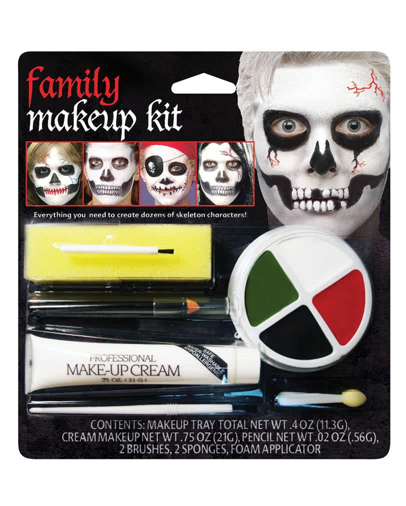 Family Skeleton Make Up Set Sugar