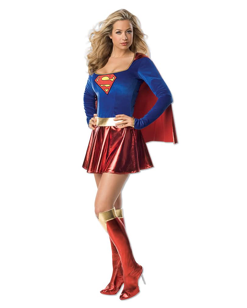 supergirl kost m superheldenkost m f r frauen horror. Black Bedroom Furniture Sets. Home Design Ideas