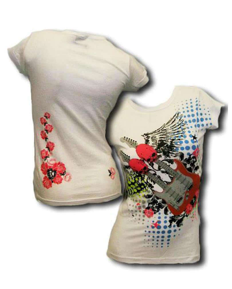 totenkopf gitarren t shirt gr m rocker shirt horror. Black Bedroom Furniture Sets. Home Design Ideas