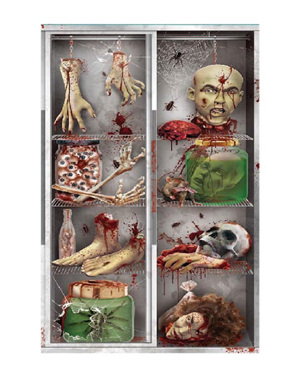Kühlschrank Deko.Halloween Türfolie Körperteile Im Kühlschrank