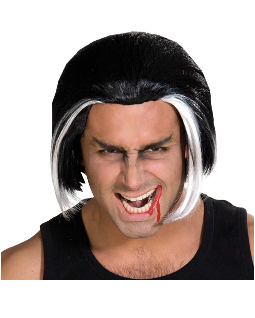 Vampire Wig Black White For Halloween Horror Shop Com