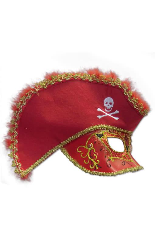 venezianische piraten maske rot kaufen horror. Black Bedroom Furniture Sets. Home Design Ideas