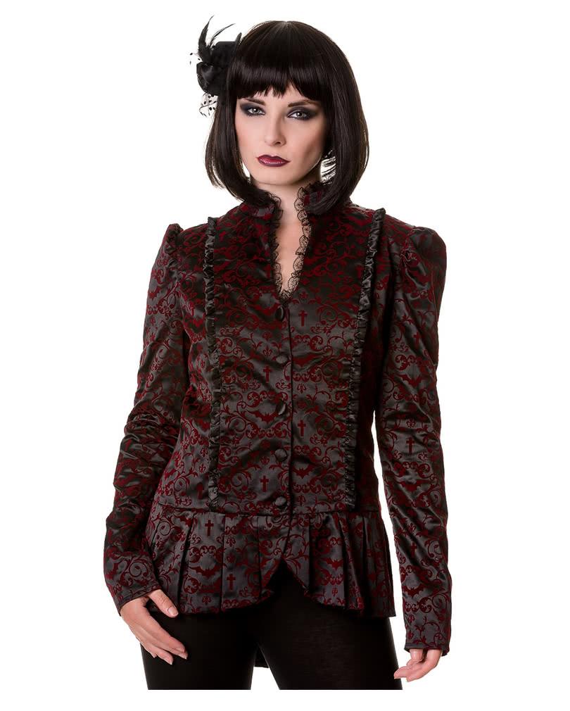 gothic jacket black red ladies jacket gothic blazer. Black Bedroom Furniture Sets. Home Design Ideas