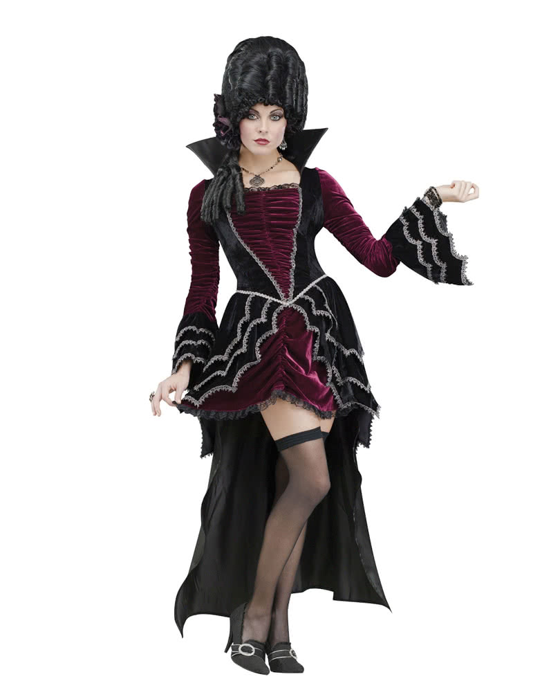 victorian vampiress deluxe costume deluxe vampire evening gown horror. Black Bedroom Furniture Sets. Home Design Ideas
