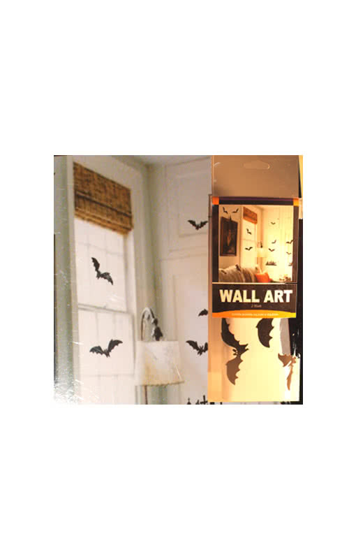 bat and cemetery wallsticker black creep sticker. Black Bedroom Furniture Sets. Home Design Ideas