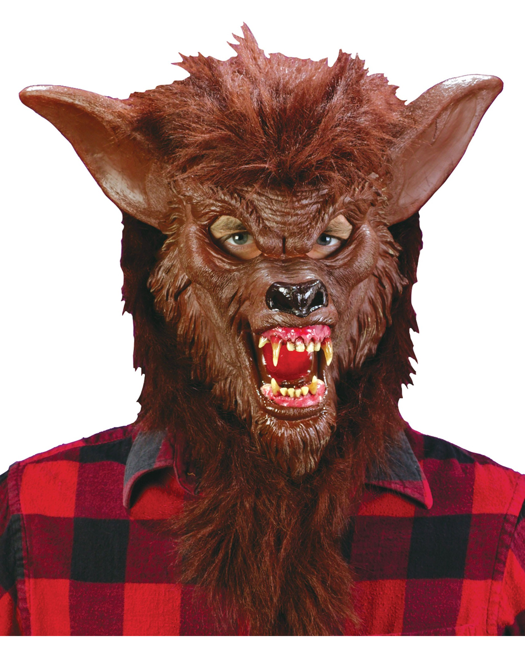Halloween Werewolf Mask Costume with Fake Blood Makeup Gloves Fancy Dress Party