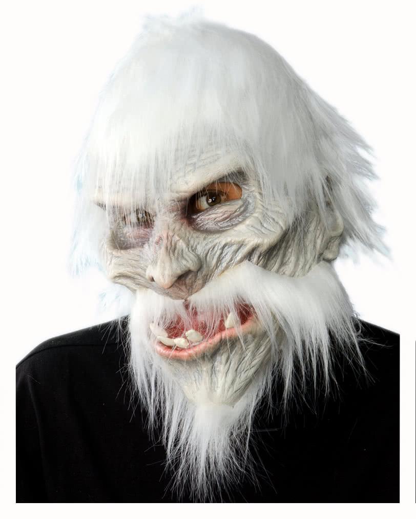 white warrior maske mit haaren fantasy zombie maske horror. Black Bedroom Furniture Sets. Home Design Ideas