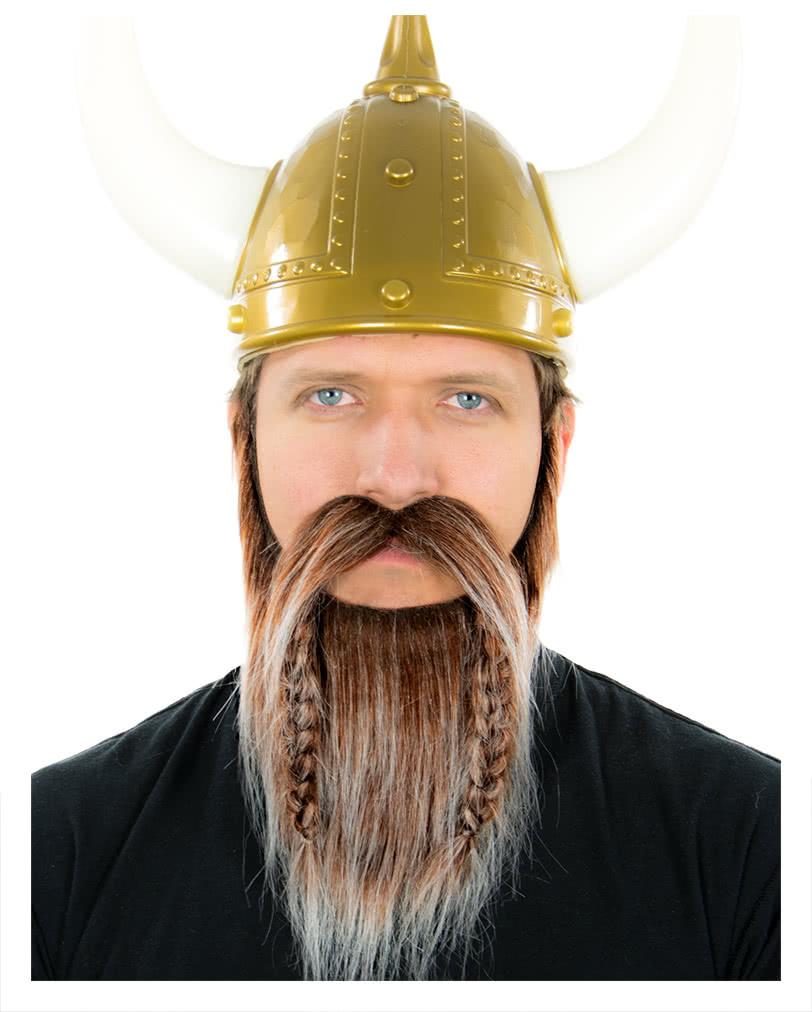 Viking Beard Brown White Heather Realistic Beard To Stick Horror Shop Com