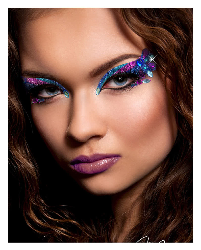 xotic eyes orient blue purple exotic eyes makeup for. Black Bedroom Furniture Sets. Home Design Ideas