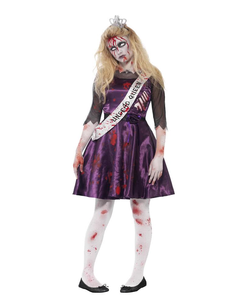zombie abschlussballk nigin blutiges halloween kost m horror. Black Bedroom Furniture Sets. Home Design Ideas