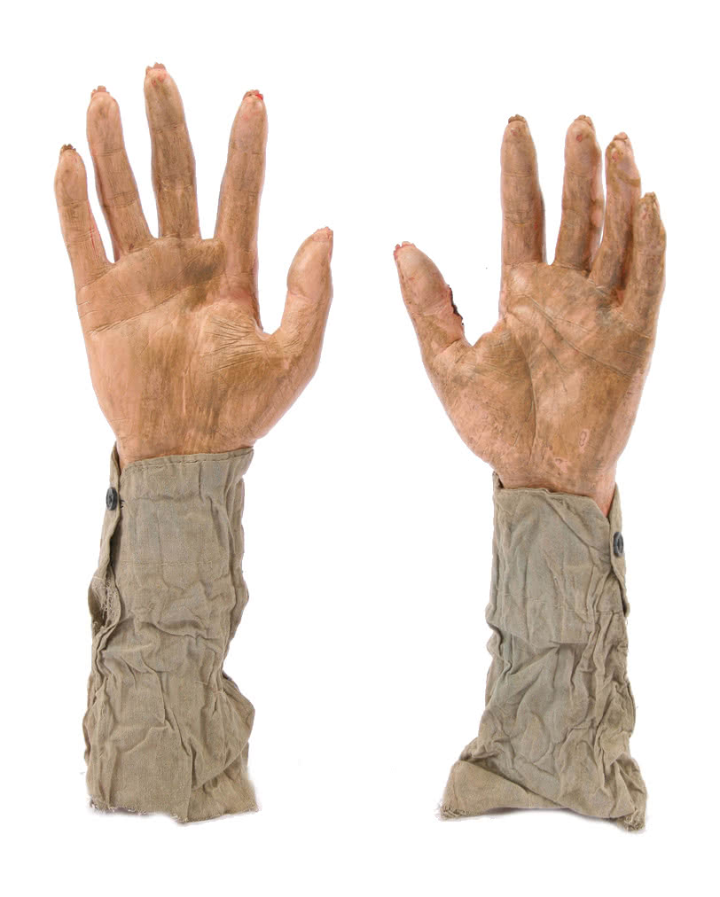 zombie hands as a garden plug halloween decoration horror. Black Bedroom Furniture Sets. Home Design Ideas