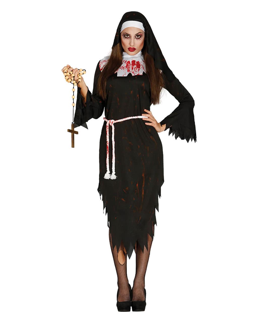 zombie nonnen kost m als verkleidung f r halloween partys horror. Black Bedroom Furniture Sets. Home Design Ideas