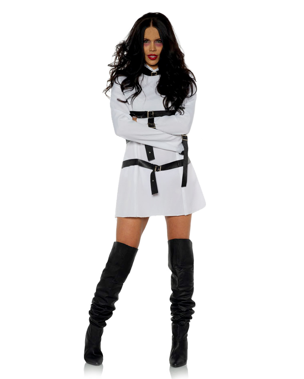 Brand New Insane Asylum Straight Jacket Men Adult Costume