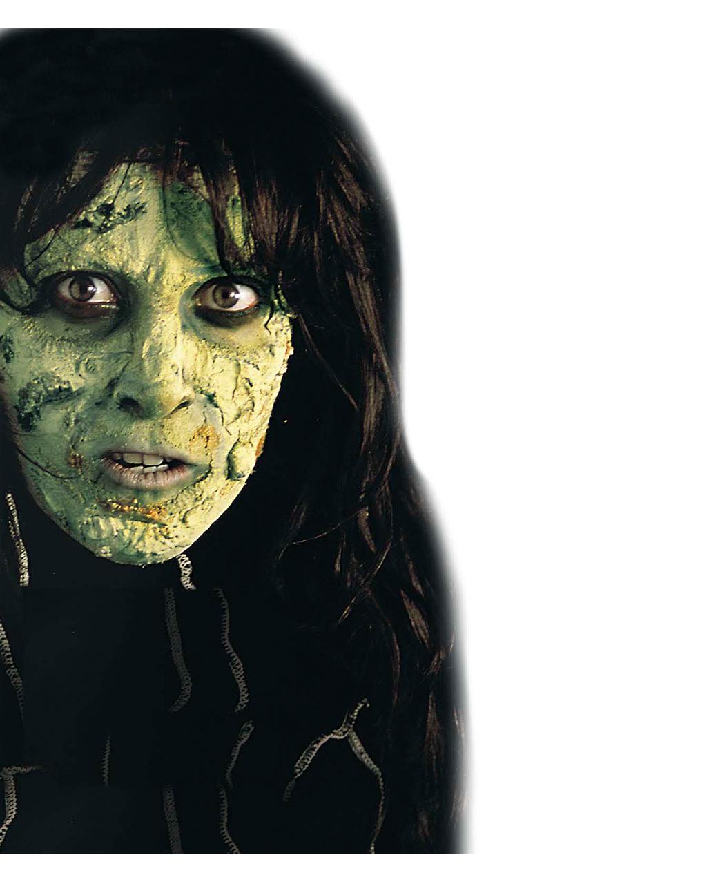 horror flesh gr n make up zombie make up horror schminke theaterschminke horror. Black Bedroom Furniture Sets. Home Design Ideas