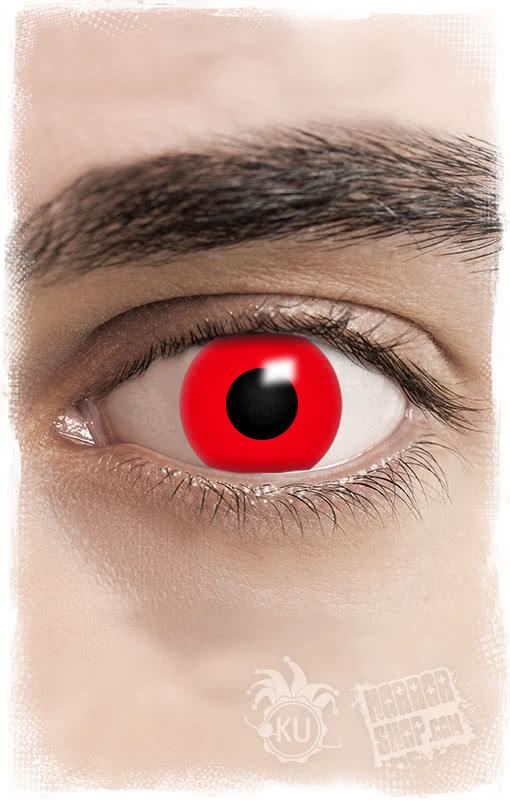 kontaktlinsen rot rote motivlinsen f r halloween horror. Black Bedroom Furniture Sets. Home Design Ideas