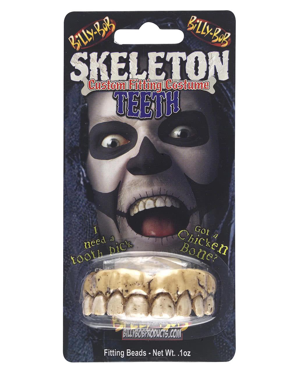 skelett gebiss als halloween kost m accessoire horror. Black Bedroom Furniture Sets. Home Design Ideas