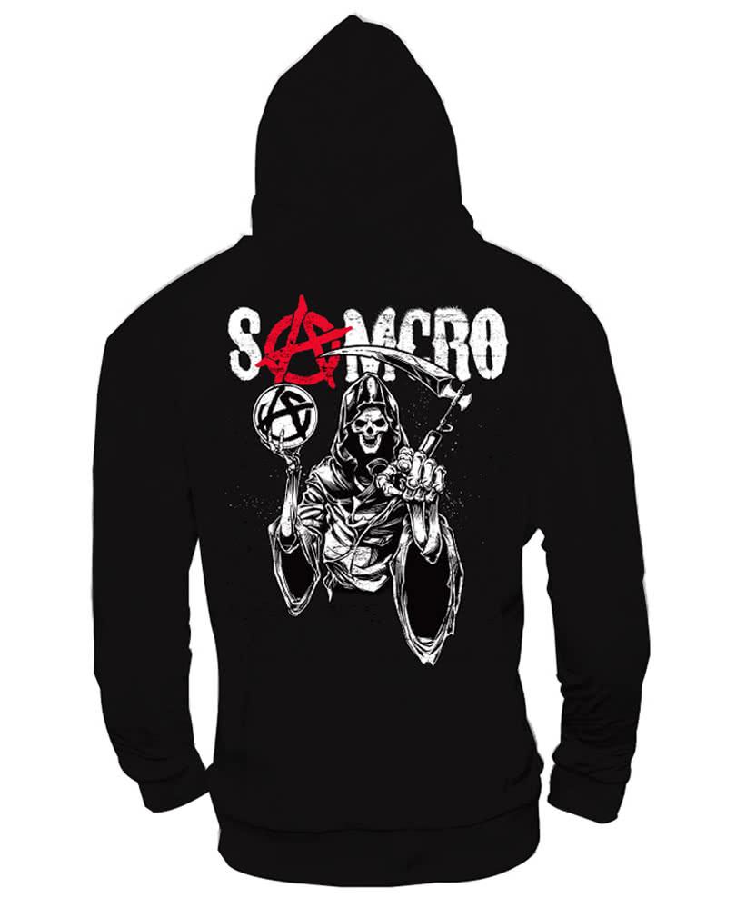 sons of anarchy samcro hoodie l licensed sweatshirt for. Black Bedroom Furniture Sets. Home Design Ideas
