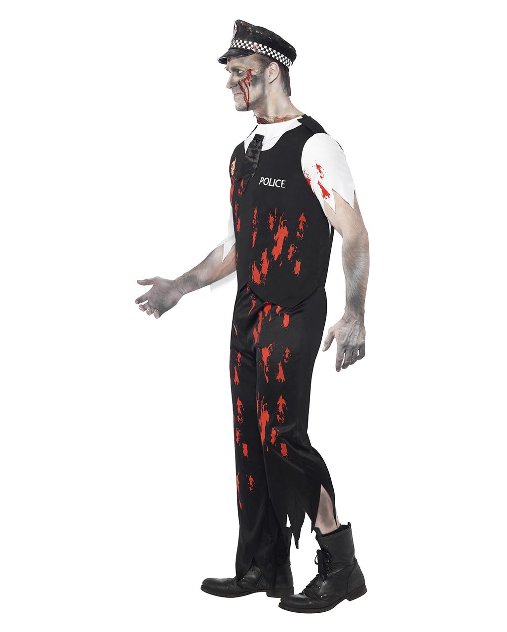 zombie policeman kost m zombie polizisten outfit horror. Black Bedroom Furniture Sets. Home Design Ideas