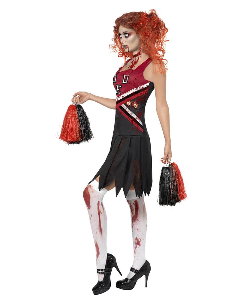 horror cheerleader kost m zombie cheerleader uniform horror. Black Bedroom Furniture Sets. Home Design Ideas