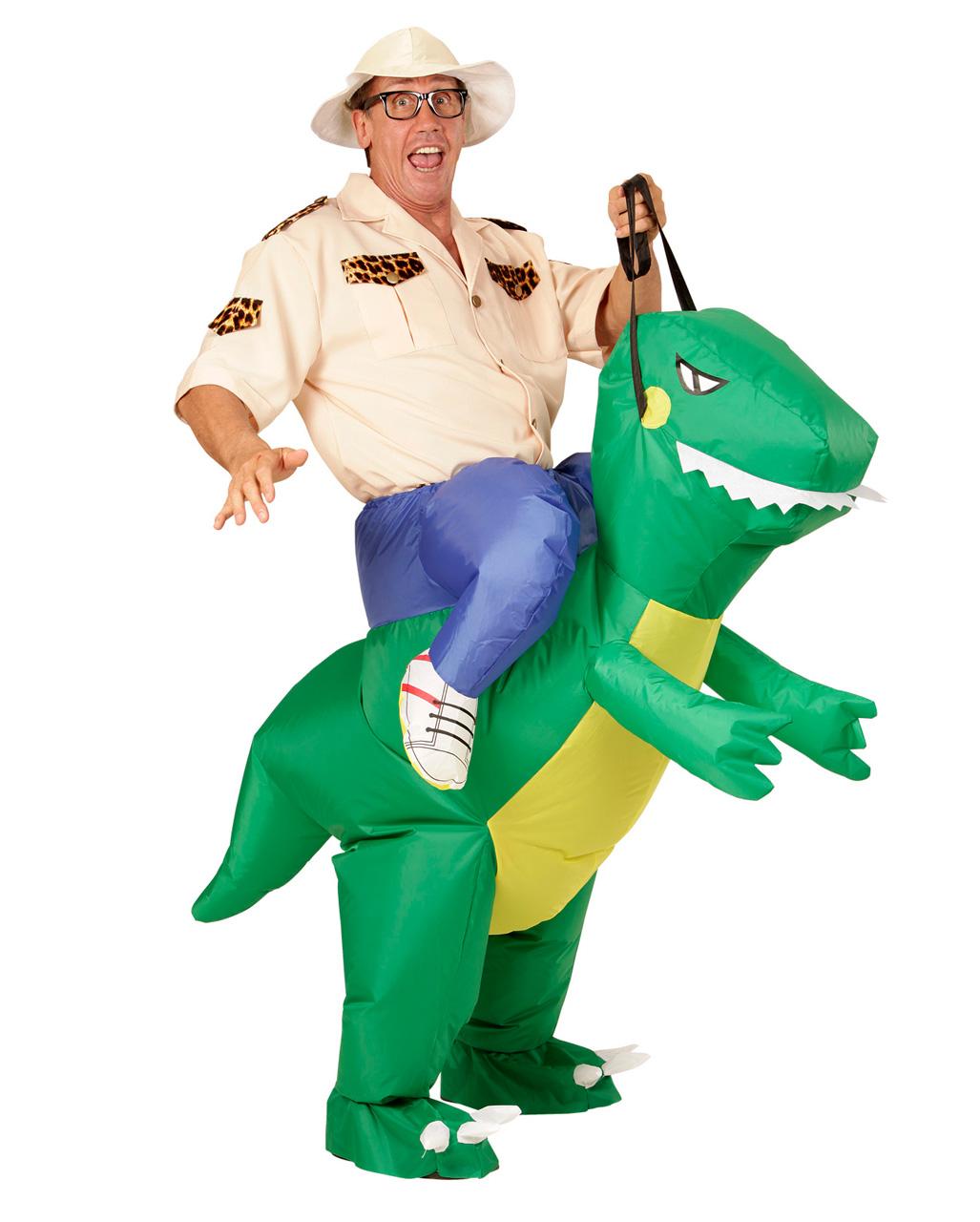 dinosaurier carry me kost m aufblasbar f r karneval horror