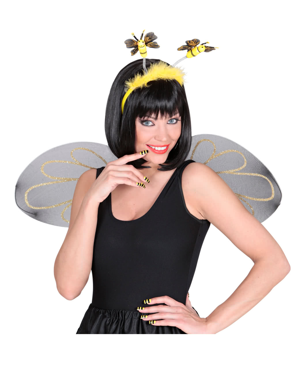 fingernails set bees as costume accessories horror. Black Bedroom Furniture Sets. Home Design Ideas