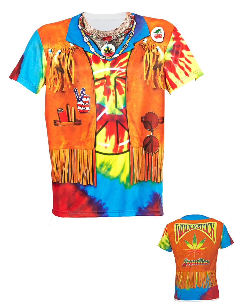 hippie man t shirt for carnival horror. Black Bedroom Furniture Sets. Home Design Ideas